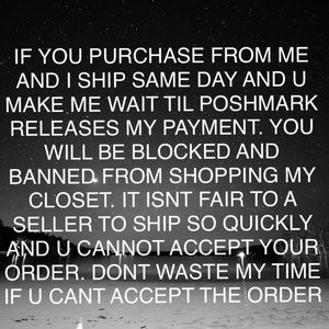 Accessories - please read before buying